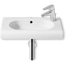 Roca Meridian Compact Wall Mounted Basin 1 Tap Hole White 550mm Right Handed