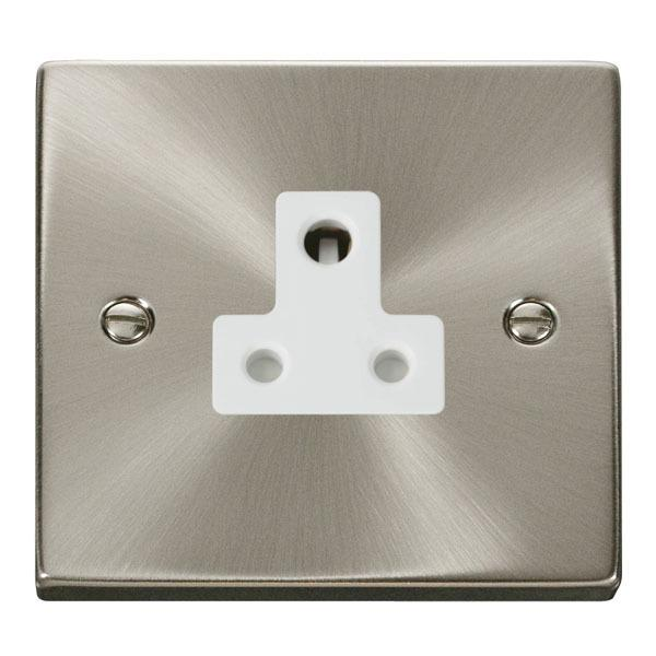 Click VPSC038WH 5A Round Pin Socket Outlet