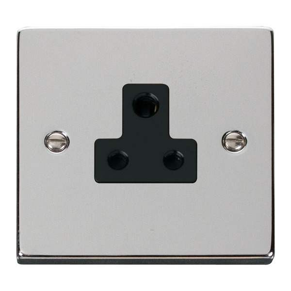 Click VPCH038BK 5A Round Pin Socket Outlet