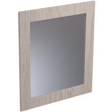 Atlanta 600mm Tall Framed Mirror 600mm White Gloss
