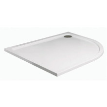 JT40 Fusion Offset Quadrant Tray White 900 x 760mm White Left Hand