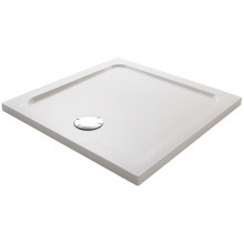 Mira Flight Square Low Shower Tray 900mm White