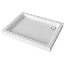 Mira Flight Square Shower Tray 900mm x 900mm 3 Upstands White