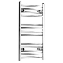 970mm x 450mm Curved Chrome Towel Rail