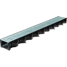 Aco HexDrain Channel with Grate 1mtr Galvanised