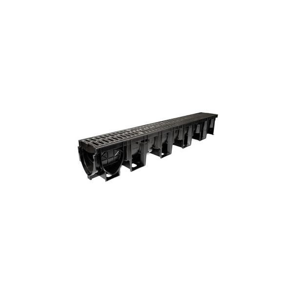 ACO HexDrain Pro 100 Channel with black composite grating 1m