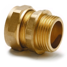 Adaptor Straight Parallel Male 28mm 1 1/4inch Copper
