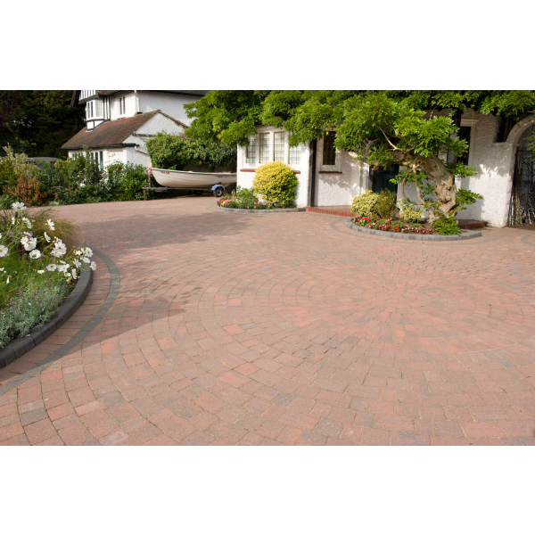 Alpha Block Paving 105x140x50mm Brindle