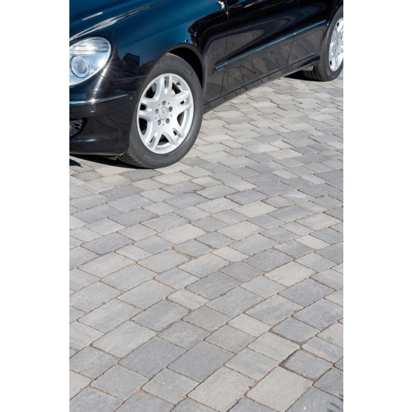 Alpha Block Paving 105x140x50mm Silver Haze per M2