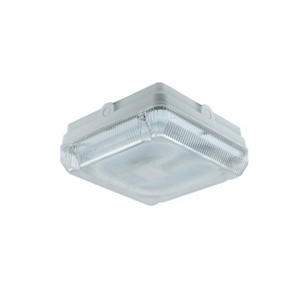 Ansell 2D 28w Bulkhead Square AA28/WP/HF White Prismatic Diffuser