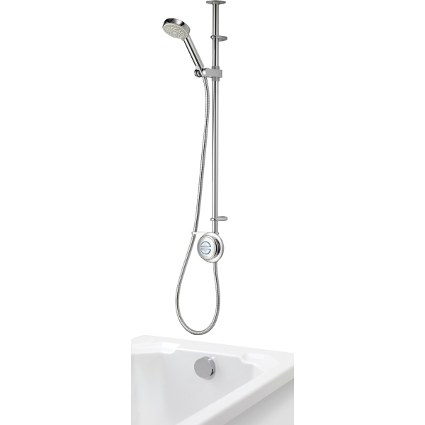 Aqualisa Quartz Concealed Divert with Adjustable Head & Bath Filler HP/Combi Ceiling Fed