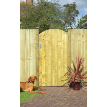 Arched Featheredge Gate - 0.9 x 1.8m