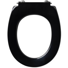 Armitage Shanks Contour 21 Small Toilet Seat For 305mm High Pan No Cover Bottom Fixing Hinges Black