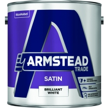 Armstead Trade 2.5ltr Satin Finish B/White
