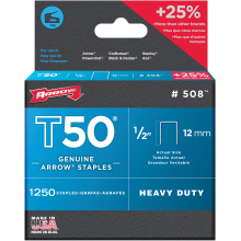 Arrow Staples T50 Box of 1250