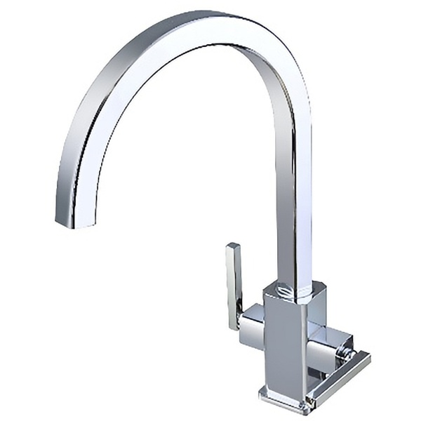 Athens Modern Twin Lever Kitchen Sink Mixer