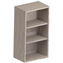 Atlanta 225mm deep Open Base Shelf Unit White
