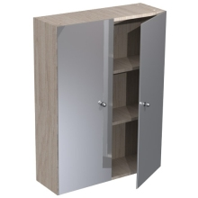 Atlanta 600mm Tall Wall Mirrored Unit White