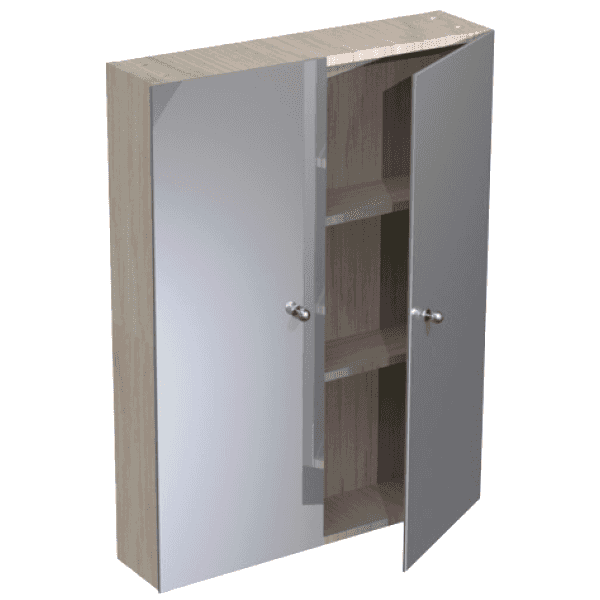 Atlanta 600mm Tall Wall Mirrored Unit Pescarar Premium
