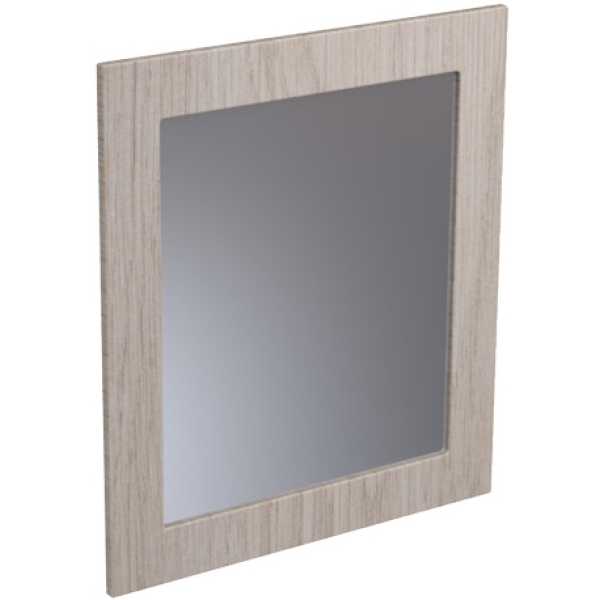 Atlanta 700mm Tall Framed Mirror White Gloss