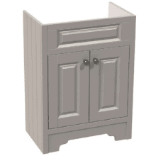 Atlanta Classic Basin Unit inc. Basin & Handles 600mm Stone Grey