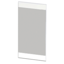 Atlanta Form Modular Tall Linear Mirror White Gloss