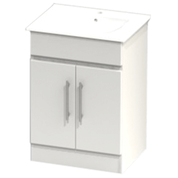Atlanta Pure Concepts Floorstanding Vanity Unit 750 White Gloss