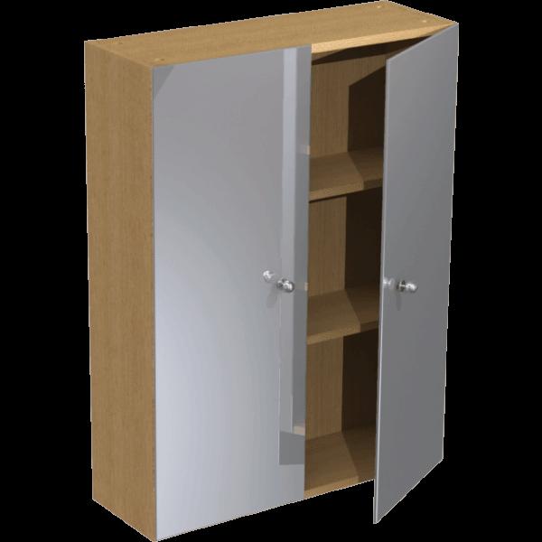 Atlanta slimline 600mm tall wall mirrored unit truffle for 600mm tall kitchen unit