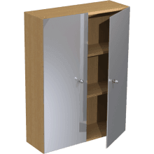 Atlanta Slimline 700mm Tall Wall Mirrored Unit Truffle