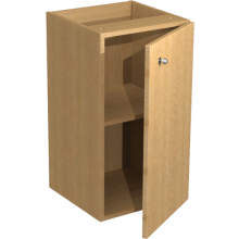 Atlanta Slimline Base Unit 350mm Truffle