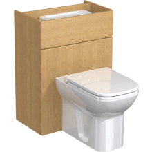 Atlanta Slimline Full Panel WC Unit & Cistern 500mm Cool Grey Premium