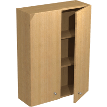 Atlanta Tall Wall Unit Double Doors 500mm Truffle