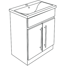 Atlanta Zest Modular Floor Standing Basin Unit 600