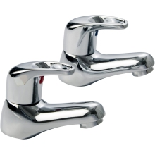 Aura Auris Basin Taps Pair Chrome Plated