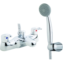 Aura Auris Bath Shower Mixer inc hose and handset Chrome Plated