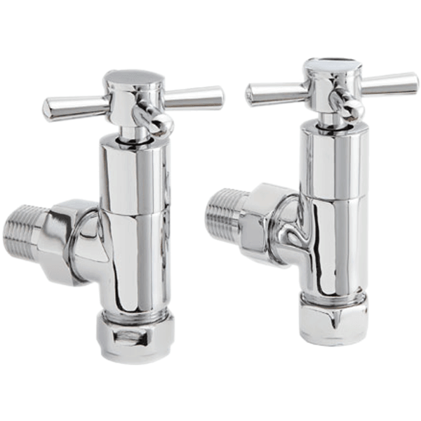 Aura Cross HTW Radiator Valves (Pair)