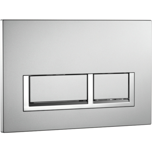 Aura Cubic Dual Flush Plate Chrome