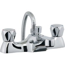 Aura Focus Bath Shower Mixer inc hose and handset Chrome Plated