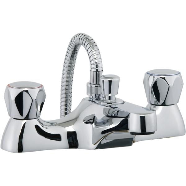 aura focus bath shower mixer inc hose and handset chrome