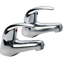 Aura Genoa Bath Taps Pair Chrome Plated