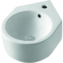Aura Nelio 330mm Corner Basin 1 Tap Hole White