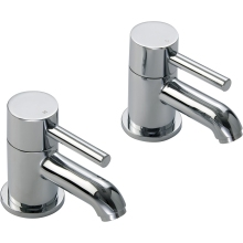 Aura Nuveo Bath Taps Pair Chrome Plated