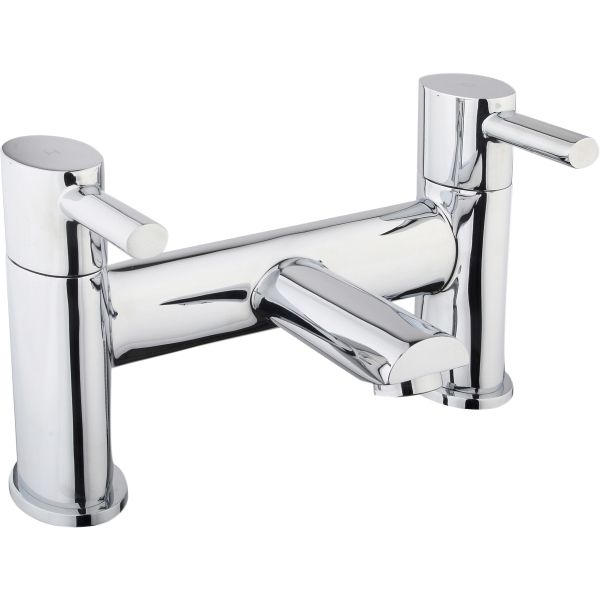 Aura Oval 2 Taphole Bath Filler Chrome Plated