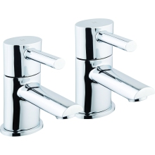 Aura Oval Basin Taps Chrome Plated