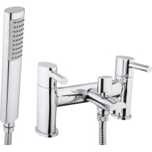 Aura Oval Bath Shower Mixer inc Hose and Handset Chrome Plated