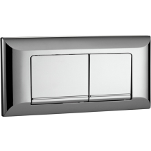 Aura Square Dual Flush Plate Chrome