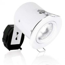 Aurora AU-DLM981WH GU10 Fixed Lock Ring Aluminium Fire Rated Downlight - White
