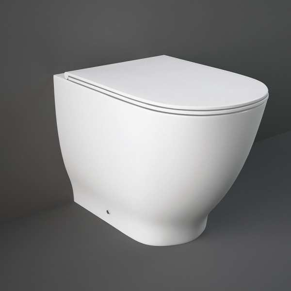 Moon Back To Wall Pan with Soft Close Toilet Seat 560mm