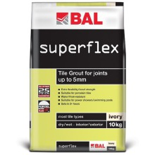 BAL Superflex Wall Grout White 3.5kg