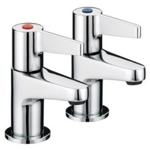 Bristan Design Utility Lever Taps 110mm Chrome Basin